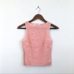 Vintage Halter Neck Lace Sparkle Top